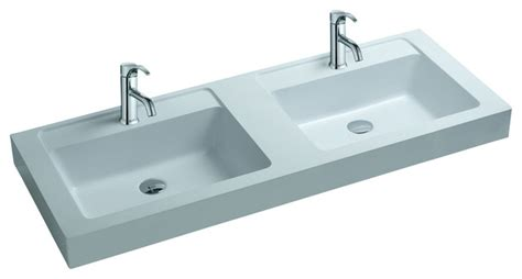 adm white solid surface resin counter top sink