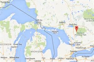 bay canada map canoe trip 2 algonquin provincial park ontario