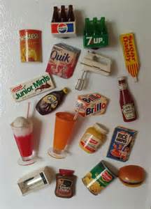 3 In 1 Oven Toaster Lot Of 18 1970s Vintage Refrigerator Magnets