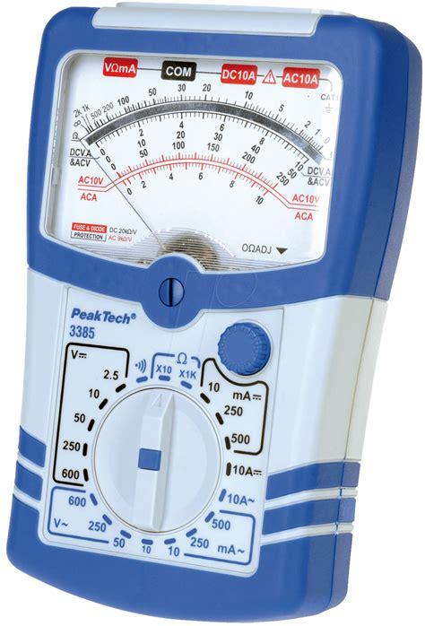 Multimeter Digital Dan Analog peaktech 3385 analog multimeter at reichelt elektronik