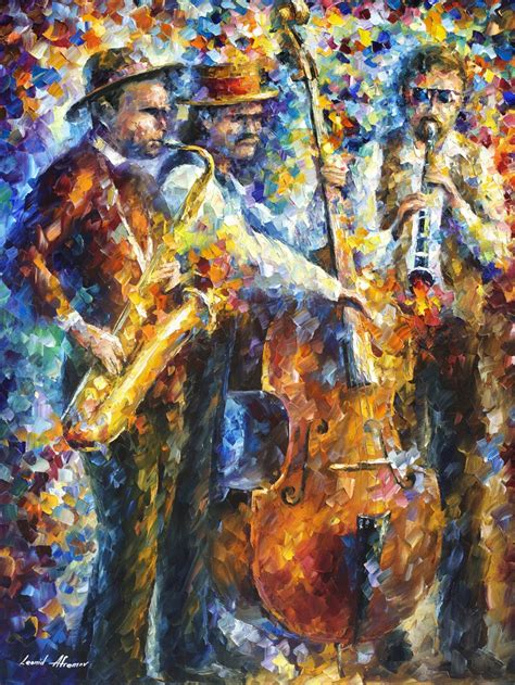 jazz artists biography jazz it up palette knife oil painting on canvas by
