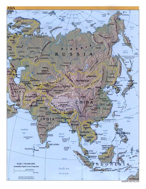 big map of asia large detailed political map of asia with relief capitals