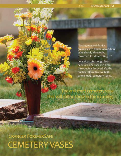 Cemetery Flowers For Vases cemetery vases cemetery flower vases headstone vases