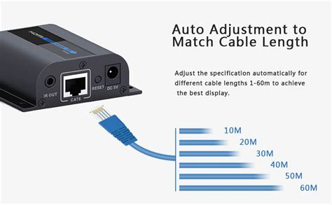 Original Hdmi Extender Bafo Support Up To 60m Untuk Cat5 Cat6 1 hdmi extender via cat 6 cable support ir 60 meter lkv372 pro 11street malaysia tv accessories