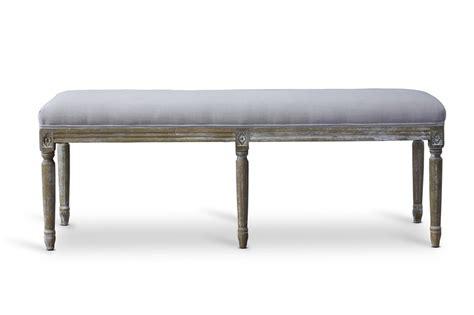 baxton studio bench baxton studio tsf 9303 beige otto clairette wood