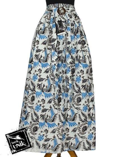 Rok Katun Rok Panjang Rok baju batik rok panjang katun motif pelikan mlayu bawahan