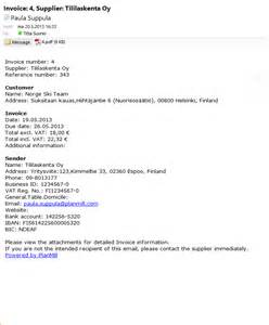 sle cover letter sle email cover letter invoice