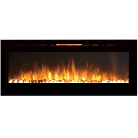 electric fireplace 60 inch reno 60 inch pebble built in recessed wall mounted