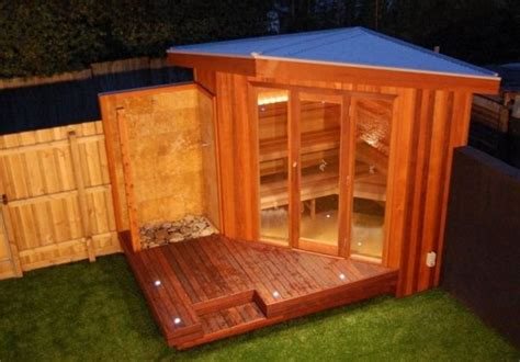 backyard sauna plans 17 sauna and steam shower designs to improve your home and