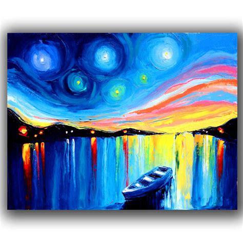 imagenes abstractas para pintar al oleo pintado a mano barco abstracta pinturas al 243 leo pintura y