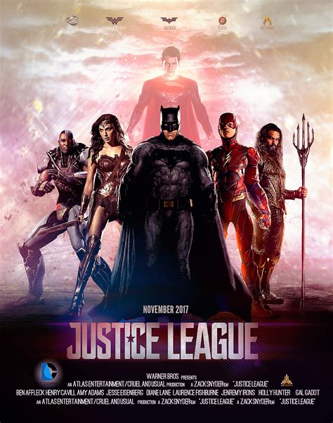justice league film photo justice league 2017 movie poster on behance