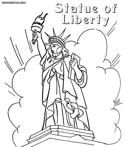 statue of liberty coloring page big tex statue coloring pages coloring pages