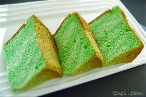 Cake Pandan minty s kitchen scalded cooked dough pandan chiffon cake 烫面班兰戚风蛋糕