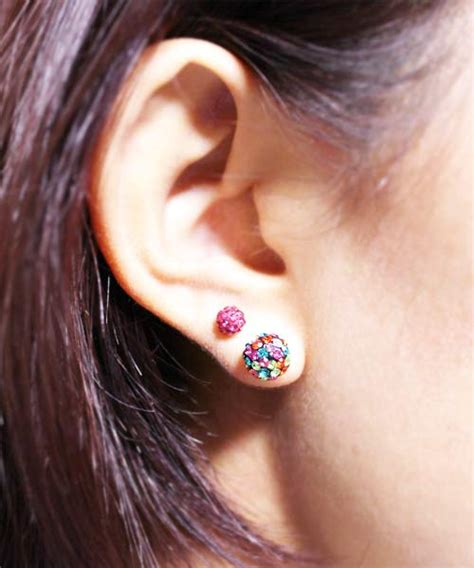 Rainbow Earing Korea hiunni premier source for piercings
