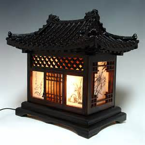 Decorative Lamps For Home by Wood Lamp Shade With Traditional Korean House Design