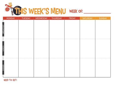 Household Planner free printable weekly meal planner not quite susie