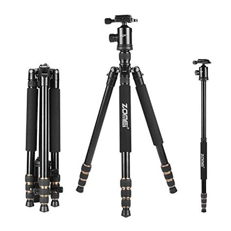 Tripod Hp Sony zomei 65 quot tripod monopod with z818 series release plate lightweight professional compact