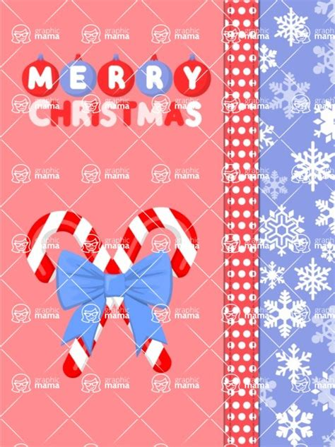 christmas card vector graphics maker design bundle merry christmas  candy canes graphicmama