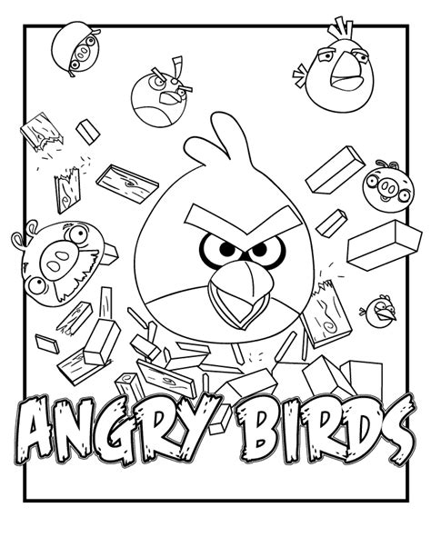 game coloring pages quot angry bird quot
