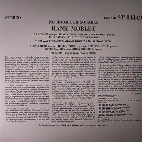 no room for squares hank mobley no room for square vinyl at juno records