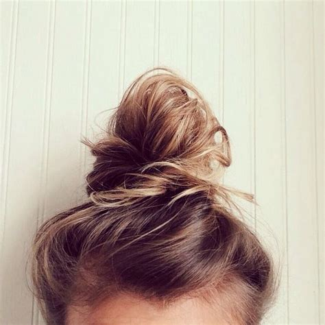 top knot or bun hair wiglet top bun nail design and cute buns on pinterest
