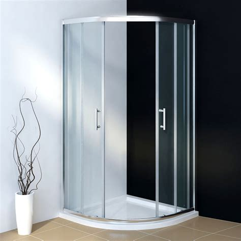 Shower Cubicle Door Quadrant Shower Cubicle Enclosure And Tray Walk In Corner Glass Door Waste Ebay