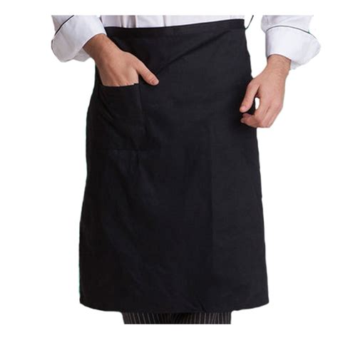 chef half apron waist bistro aprons with pocket for