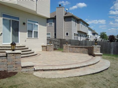 Unilock Inc Unilock Patio With Seat Walls For The Home