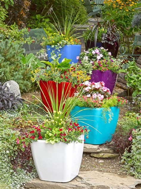 Bright Planters by Large Square Planters Self Watering Rolling Planter Gardeners The Bright Colors