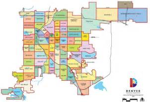 denver colorado county map neighborhood map denver city and county of denver co