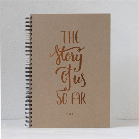Memory Book - personalised the story of us so far memory book by so