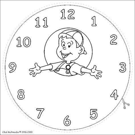 Imagenes Para Colorear Reloj   reloj para colorear y recortar imagui