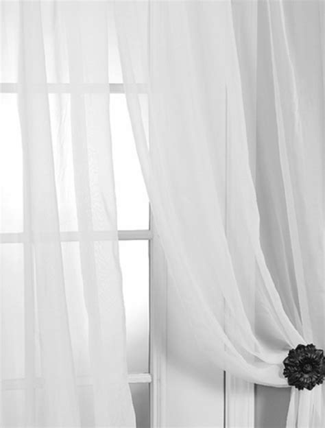 solid white curtain panels solid white voile poly sheer curtain contemporary