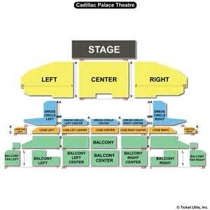 Cadillac Theatre Chicago Seating Chart Cadillac Palace Theatre Seating Charts