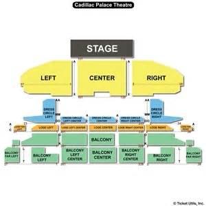 Cadillac Theater Seating Chart Cadillac Palace Theatre Seating Charts