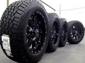 Truck Wheel And Tire Packages Financing Black Truck Rims And Tires