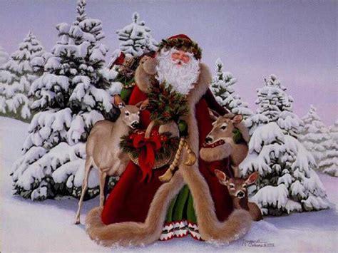 wallpaper christmas santa how to draw santa claus reindeers hellokids com