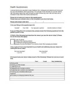 template of a questionnaire 30 questionnaire templates word template lab