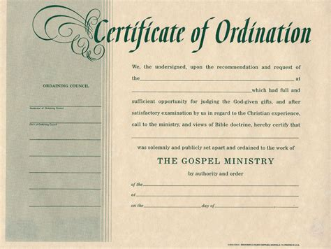 ordination certificate template search results for elder ordination certificate template