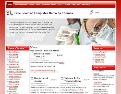 themes joomla gratuit laboratoire gratuit joomla 1 5 th 232 me d 233 sign par themza