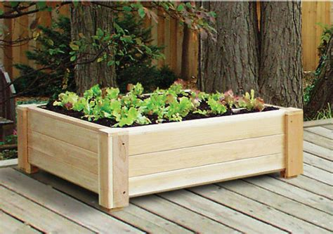 Outdoor Raised Planters by Cedar Square Raised Container Garden Traditional