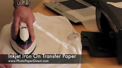 how to use printable iron on transfer paper iron on transfer paper tutorial by photo paper direct