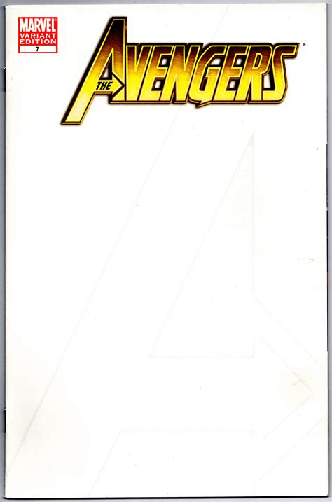 comic book cover template the 7 blank sketch cover variant print