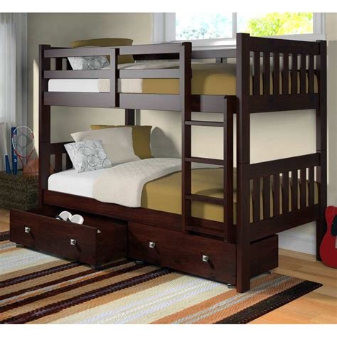 bunk bed slats maisie twin over twin slatted bunk bed dark cappuccino