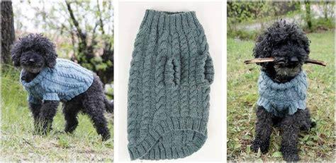 dog jumper pattern knitting barking cables knitted dog jumper free knitting pattern