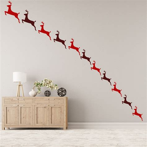 home decor for walls reindeer wall sticker pack festive wall decal