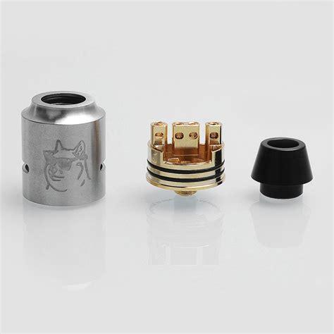 Castle Rda Rebuildable Atomizer Silver Qizz doge v4 style rda silver ss 24mm rebuildable atomizer