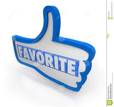 favorite blue favorite word blue thumb s up social media stock photo