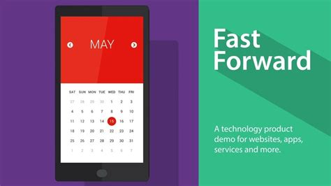 fast forward tech product demo after effects template