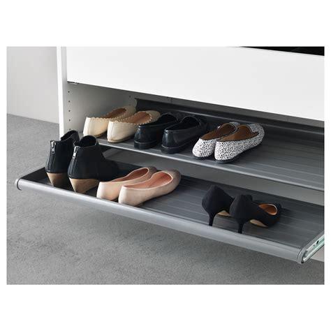 ikea roll out shelves komplement pull out shoe shelf dark grey 100x58 cm ikea